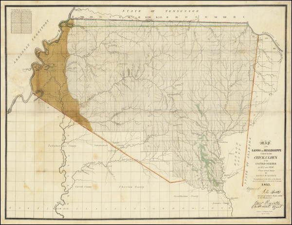 66-South, Alabama and Mississippi Map By Henry M. Lusher