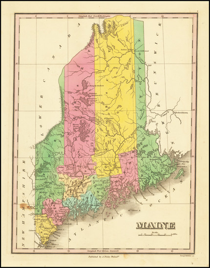71-Maine Map By Anthony Finley