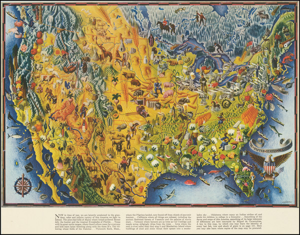 27-United States and Pictorial Maps Map By Miguel Covarrubius