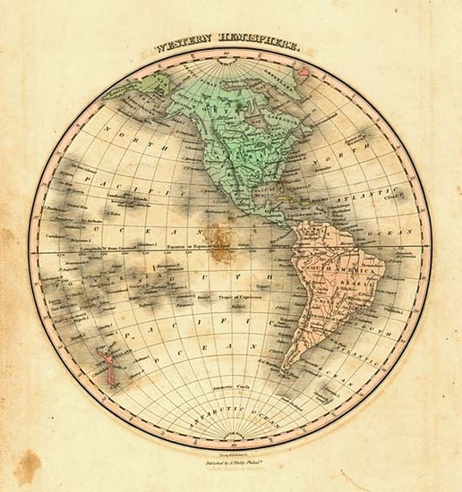 88-World, Western Hemisphere, South America and America Map By Anthony Finley