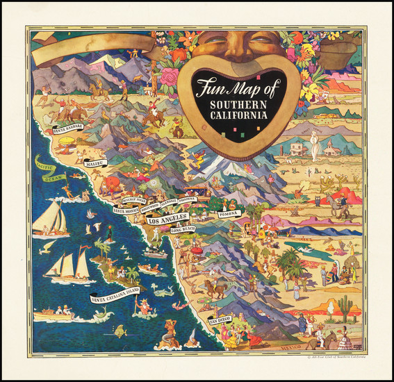 9-Pictorial Maps and California Map By Raymond Winters