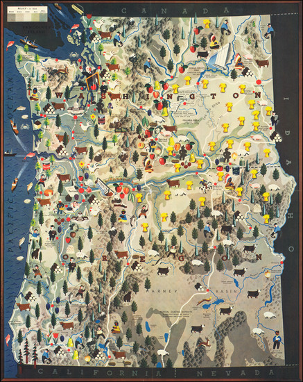 23-Oregon and Washington Map By Antonio Petruccelli