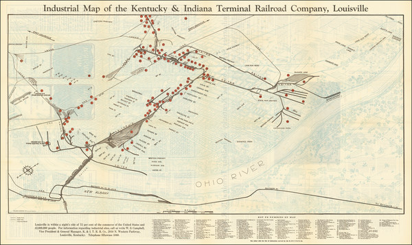 54-Kentucky Map By Bush-Krebs Company