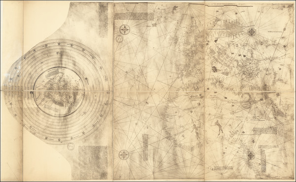 19-World, Europe and Mediterranean Map By Christopher Columbus