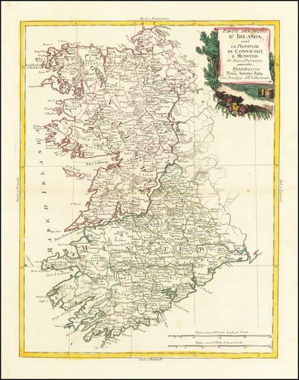 26-Ireland Map By Antonio Zatta