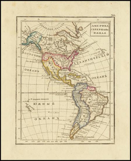 13-America Map By Fyodor Poznyakov  &  Konstantin Arsenyev  &  S.K. Frolov