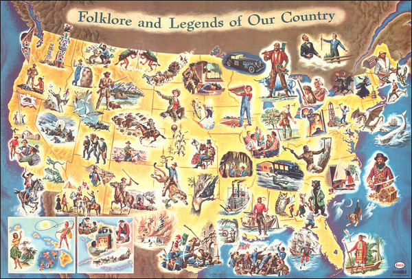 10-United States and Pictorial Maps Map By Frank J. Soltesz