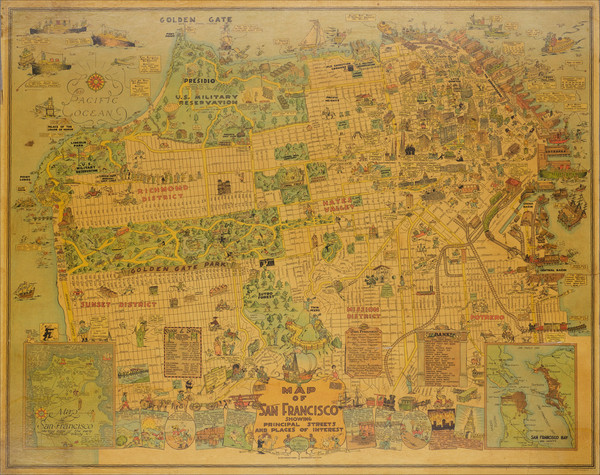 37-Pictorial Maps and San Francisco & Bay Area Map By Harrison Godwin