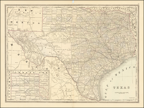 24-Texas Map By William Bradley