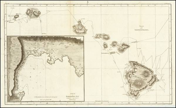 30-Hawaii and Hawaii Map By James Cook