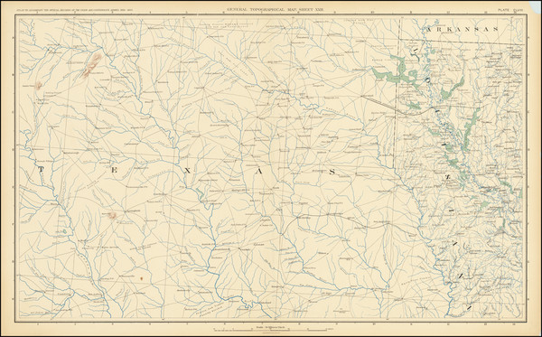 85-Louisiana and Texas Map By United States GPO