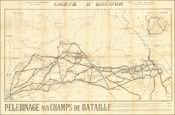 36-France and World War I Map By Anonymous