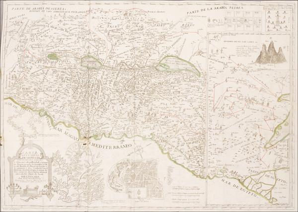 45-Holy Land Map By Juan Peñalver