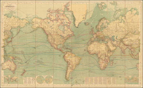 42-World Map By Hermann Berghaus