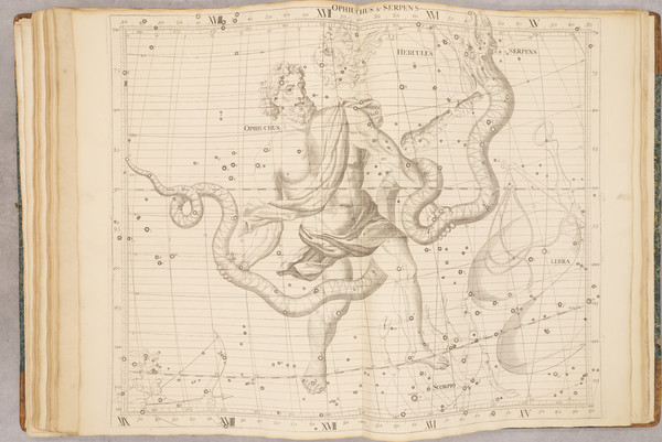 7-Atlases and Celestial Maps Map By John Flamsteed