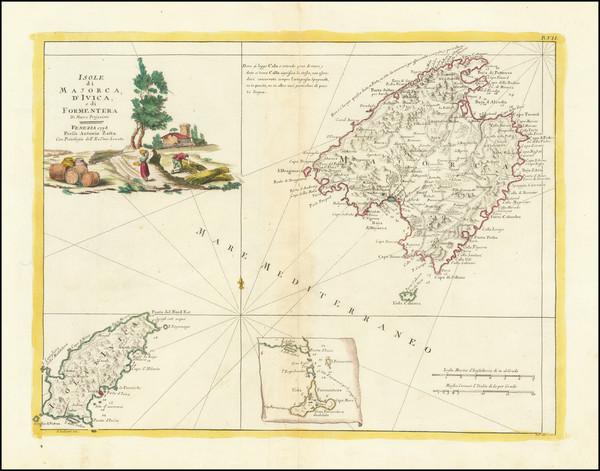 66-Balearic Islands Map By Antonio Zatta