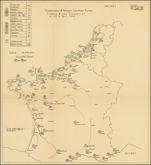 2-Netherlands, Belgium, France and World War II Map By Commander Task Force 122