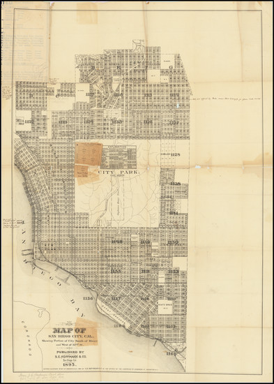 91-San Diego Map By S. E. Hoffmann & Co.