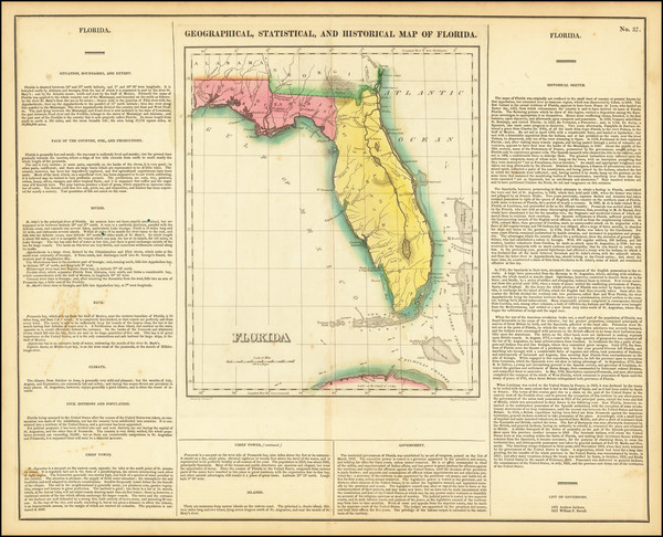 59-Florida Map By Henry Charles Carey  &  Isaac Lea