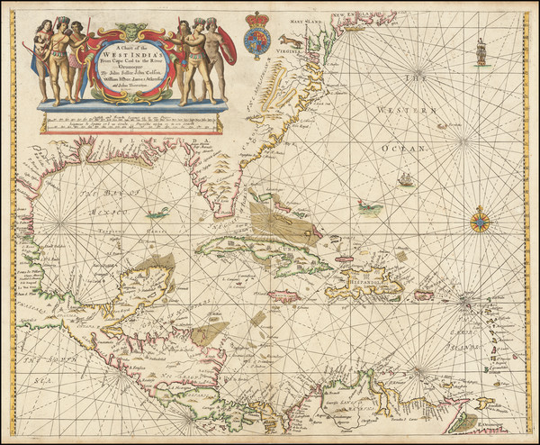 22-Mid-Atlantic, Florida, South, Southeast, Mexico, Caribbean, Bahamas and Central America Map By
