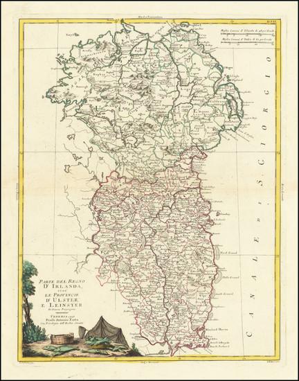 19-Ireland Map By Antonio Zatta