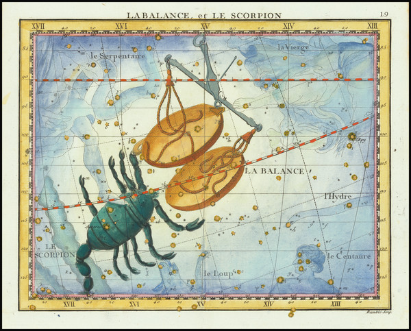 100-Celestial Maps Map By John Flamsteed / MJ Fortin