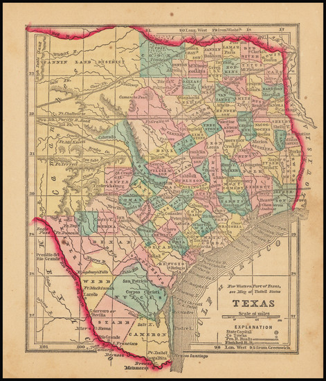 3-Texas Map By Sidney Morse  &  Samuel Gaston