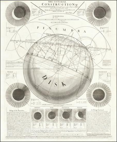 3-Celestial Maps Map By John Senex / Thomas Wright (astronomer)