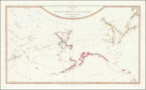 57-Alaska, Pacific, Russia in Asia, Canada and Western Canada Map By William Faden / Henry Roberts