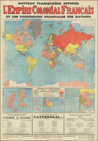 94-World Map By Librairie Hayard / Francis-Day