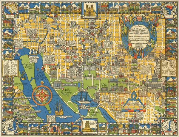 78-Washington, D.C. and Pictorial Maps Map By Edwin Olsen  &  Blake Clark