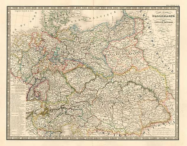 63-Europe, Germany, Austria, Poland and Hungary Map By J. Andriveau-Goujon