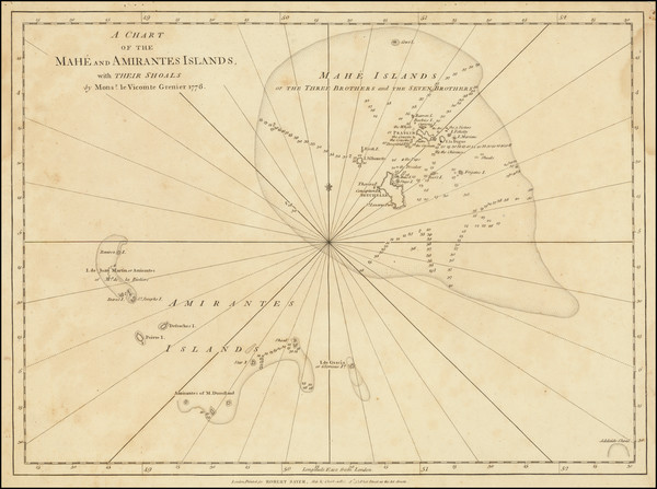 75-Indian Ocean and African Islands, including Madagascar Map By Robert Sayer