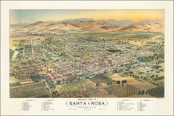 25-Other California Cities Map By H.S. Crocker & Co.