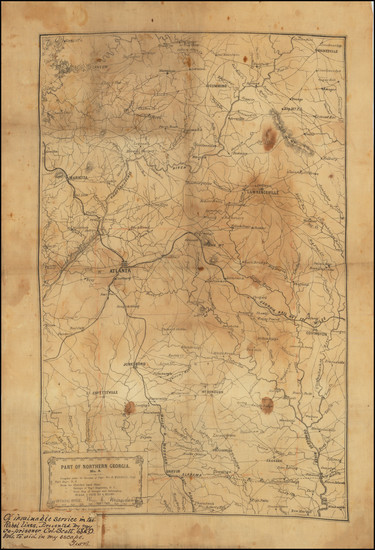 25-South and Georgia Map By William E. Merrill  &  William C. Margedant