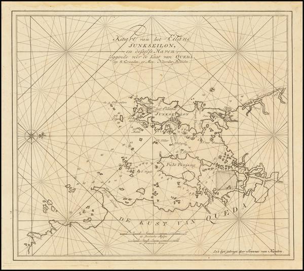 55-Thailand, Cambodia, Vietnam Map By Johannes II Van Keulen