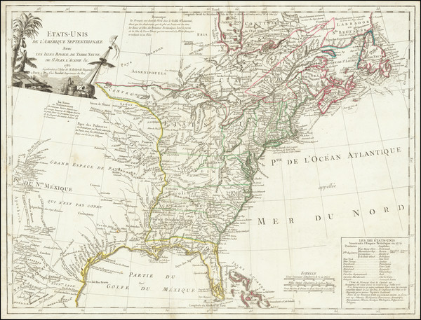 51-United States and American Revolution Map By Charles Francois Delamarche
