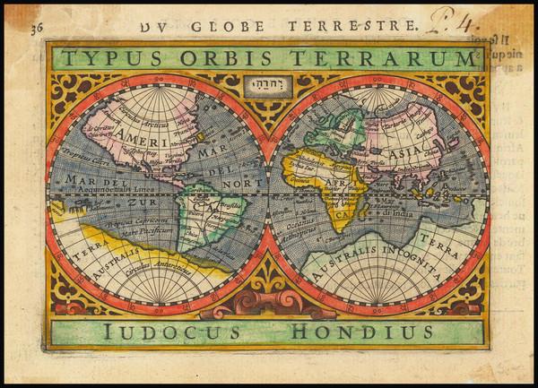 100-World Map By Petrus Bertius
