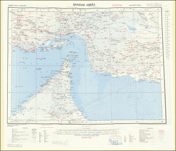 51-Middle East, Arabian Peninsula and Persia Map By War Office