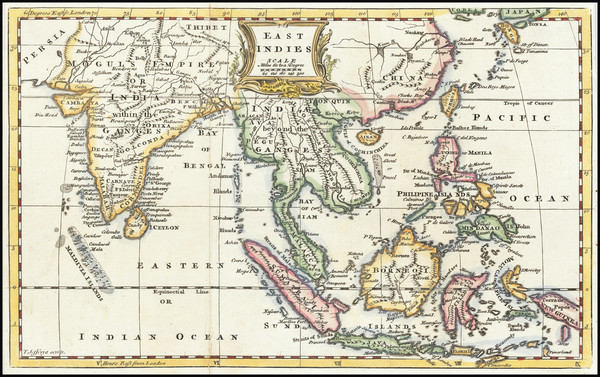 53-India and Southeast Asia Map By Thomas Jefferys