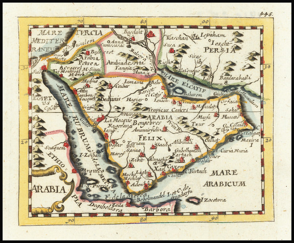 1-Middle East and Arabian Peninsula Map By Johann Hoffmann