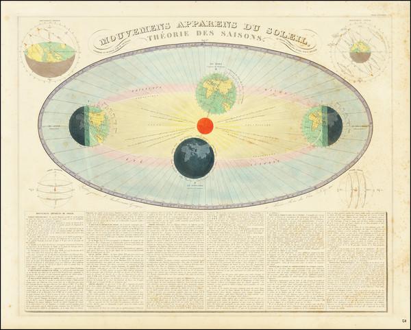 67-Celestial Maps Map By J. Andriveau-Goujon