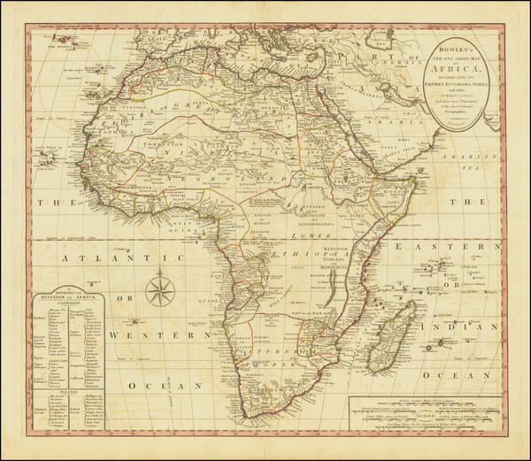 68-Africa Map By Carington Bowles II  &  Samuel Carver