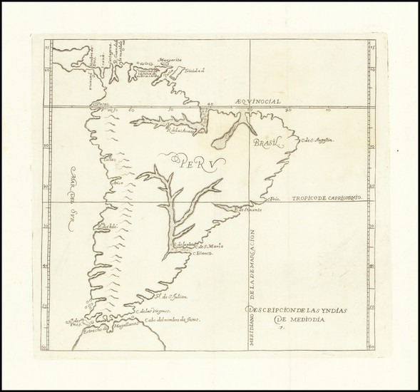 58-South America Map By Antonio de Herrera y Tordesillas