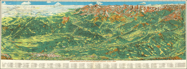 55-Colorado, Rocky Mountains, Colorado and Pictorial Maps Map By Ralph Carlyle  Prather