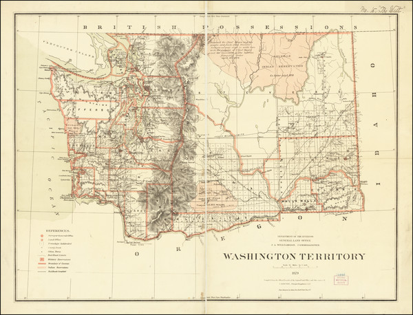 53-Washington Map By U.S. General Land Office / C. Roeser