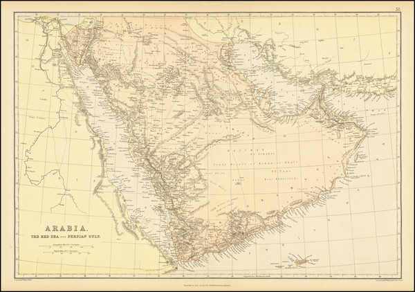 86-Middle East and Arabian Peninsula Map By Blackie & Son