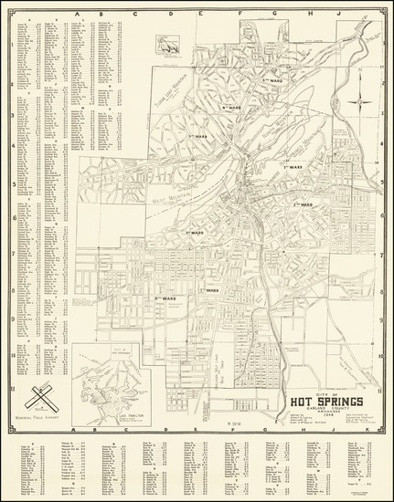 50-Arkansas Map By Robert S. Lowrey