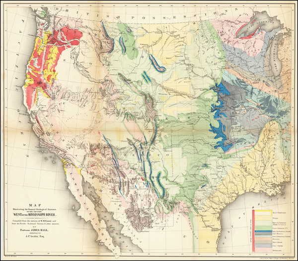 14-United States Map By William Hemsley Emory