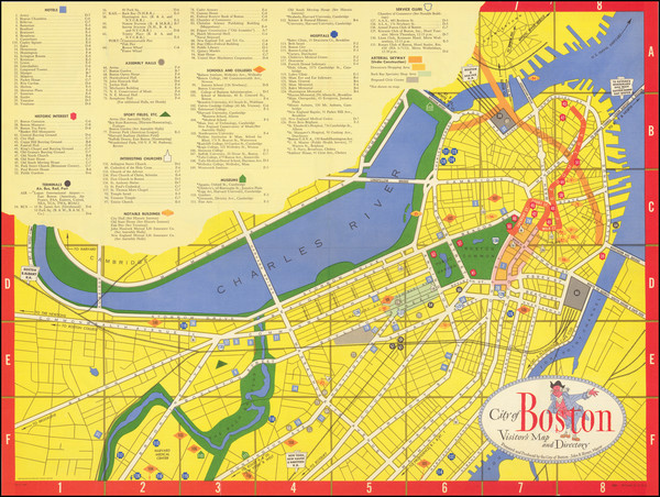 56-Pictorial Maps and Boston Map By Zorigian Studios